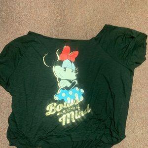 Disney Minnie Mouse Black Off Shoulder Top